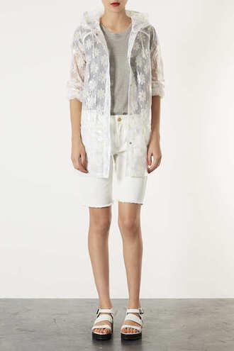 jacket daisy clear mac floral raincoat rain winter outfits