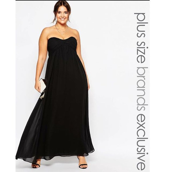 Long black dress plus