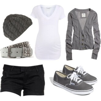 shirt jacket sweater clothes grey shorts lovely blouse outfit hat shoes cardigan