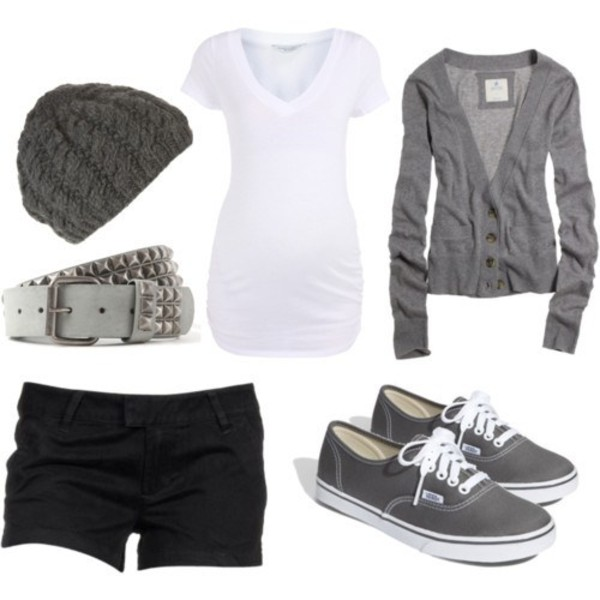 shirt jacket sweater clothes grey shorts lovely blouse outfit hat shoes t-shirt belt grey cardigan