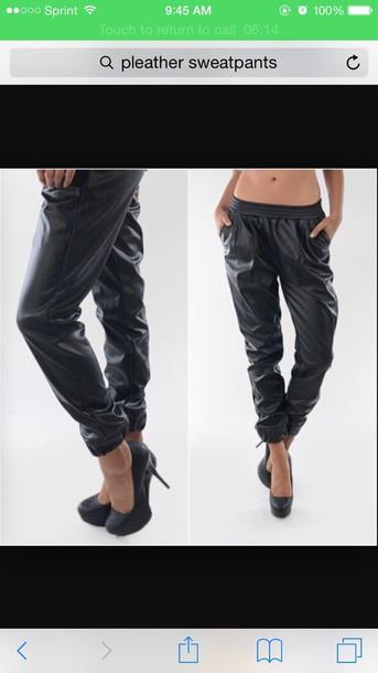leggings black leather leggings