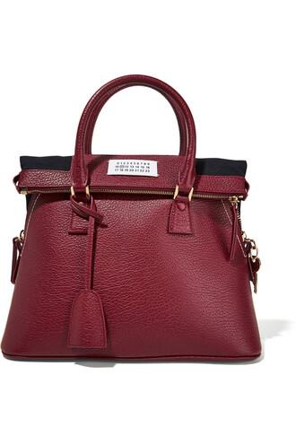 leather burgundy bag