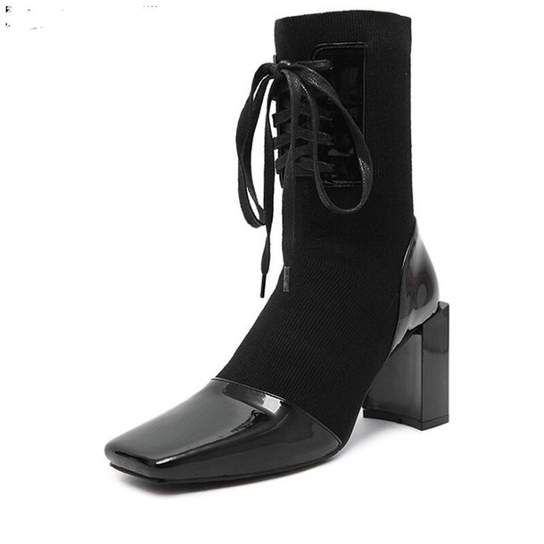 black boots, sock boots, ankle boots