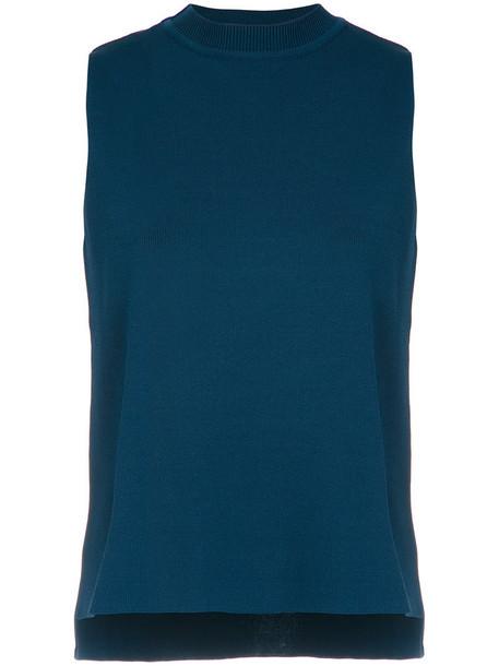 EGREY tank top top women spandex blue