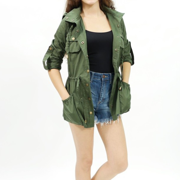 Jacket: fall outfits, fall jacket, olive jacket, olive green ...
