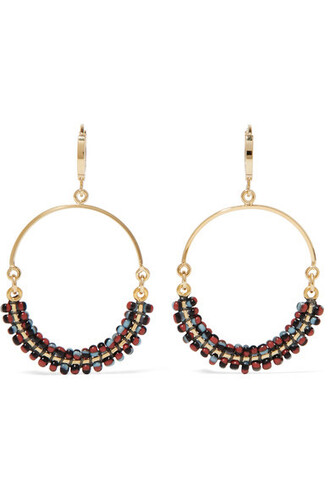 beaded earrings hoop earrings gold jewels