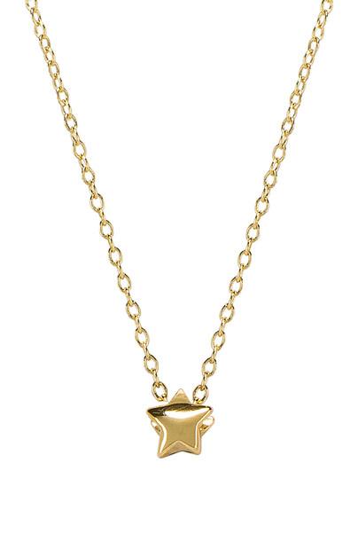 gorjana Adjustable Star Charm Necklace in gold / metallic