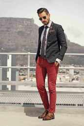 what my boyfriend wore,blogger,sunglasses,jacket,shirt,menswear,classy,burgundy pants,mens suit,preppy,fall outfits