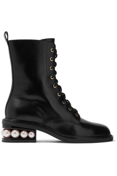 Nicholas Kirkwood - Casati Embellished Leather Boots - Black