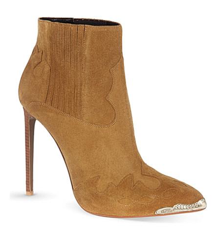 Paris heeled cowboy ankle boots