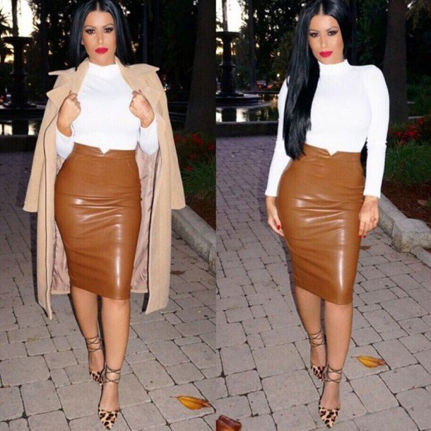 skirt dress leather leather skirt