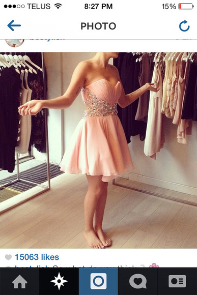 dress pink dress pink prom dress light pink dress short prom dress homecoming dresses