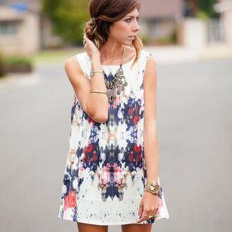 dress clothes cute white dress multicolor