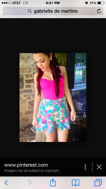 skirt flower skirt floral skirt gabi demartino gabriella demartino