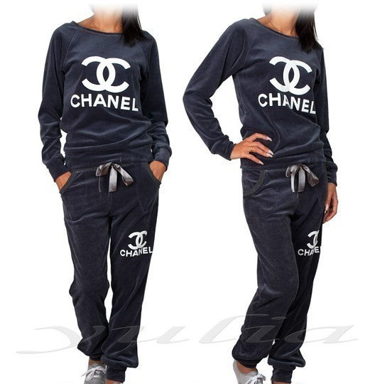 Sweatsuit unbranded chanel logo sm