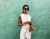 blouse,this blouse is from storets but i cannt find it,pants,pockets,cropped pants,flat sandals,handbag,sunglasses,hand jewelry