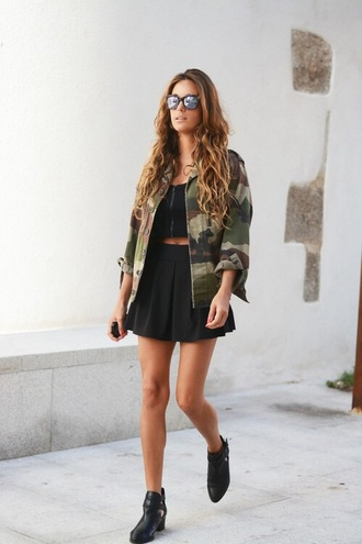 skirt military style jacket