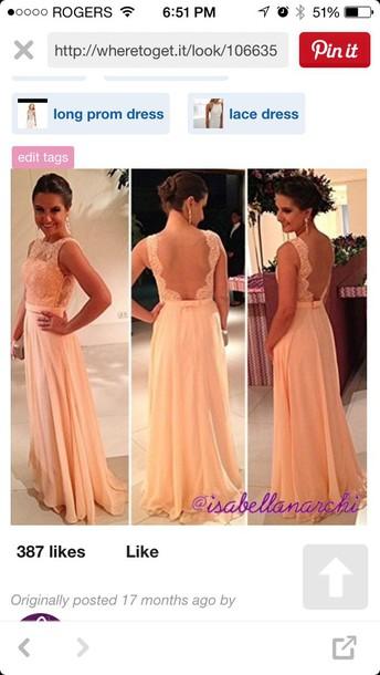 dress pink long dress