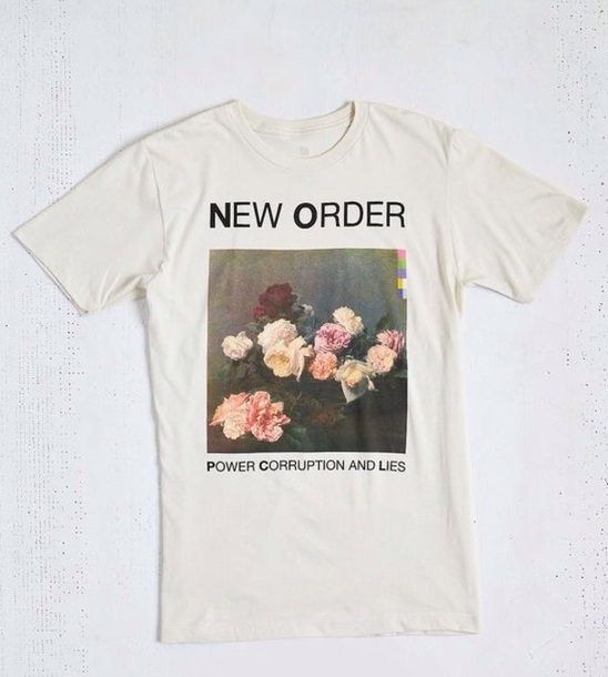 shirt album record cover white indie retro hipster new order t-shirt indie rock hipster punk