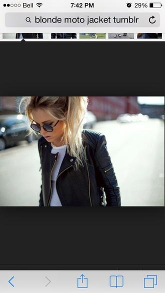 jacket black edgy moto 2014