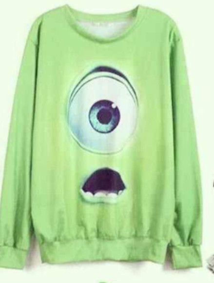 sweater disney green monsters inc. mike