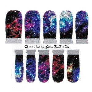 Amazon.com : Winstonia Designer Nail Wrap Strips - Galaxy Far Far Away : Beauty