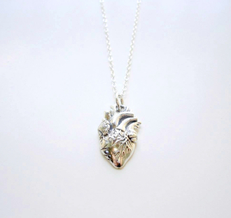 jewels heart necklace silver
