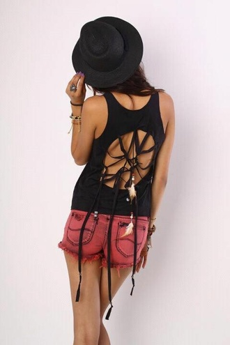 tank top cut-out top dreamcatcher indian boho chic