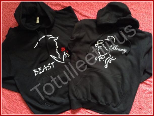 Sweater Beauty And The Beast Disney Disney Couples Sweatshirts