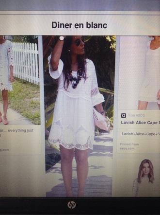 dress white dress bohemian