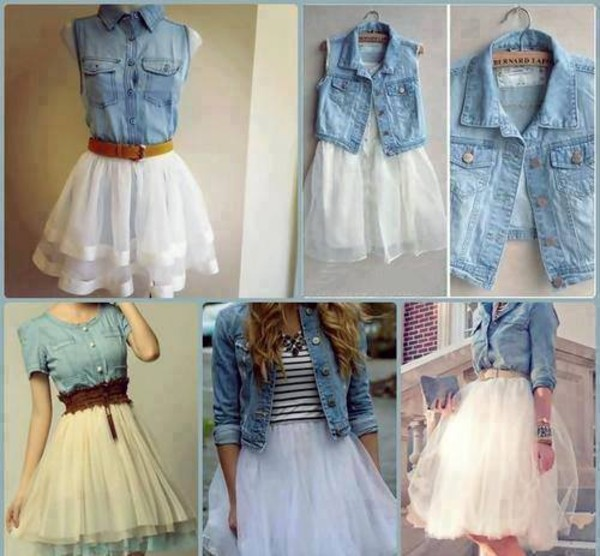 jacket dress denim vest