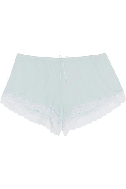 Eberjey shorts pajama shorts lace white