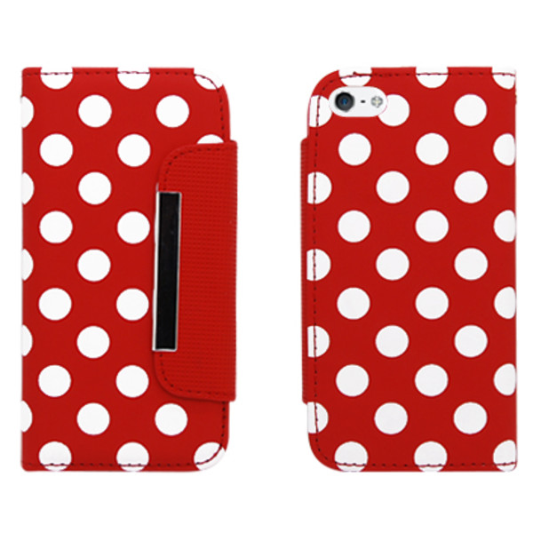 bag red and white polka dots polka dots clutch phone wallet cute phone wallet cute phone case iphone 5 case iphone 5c