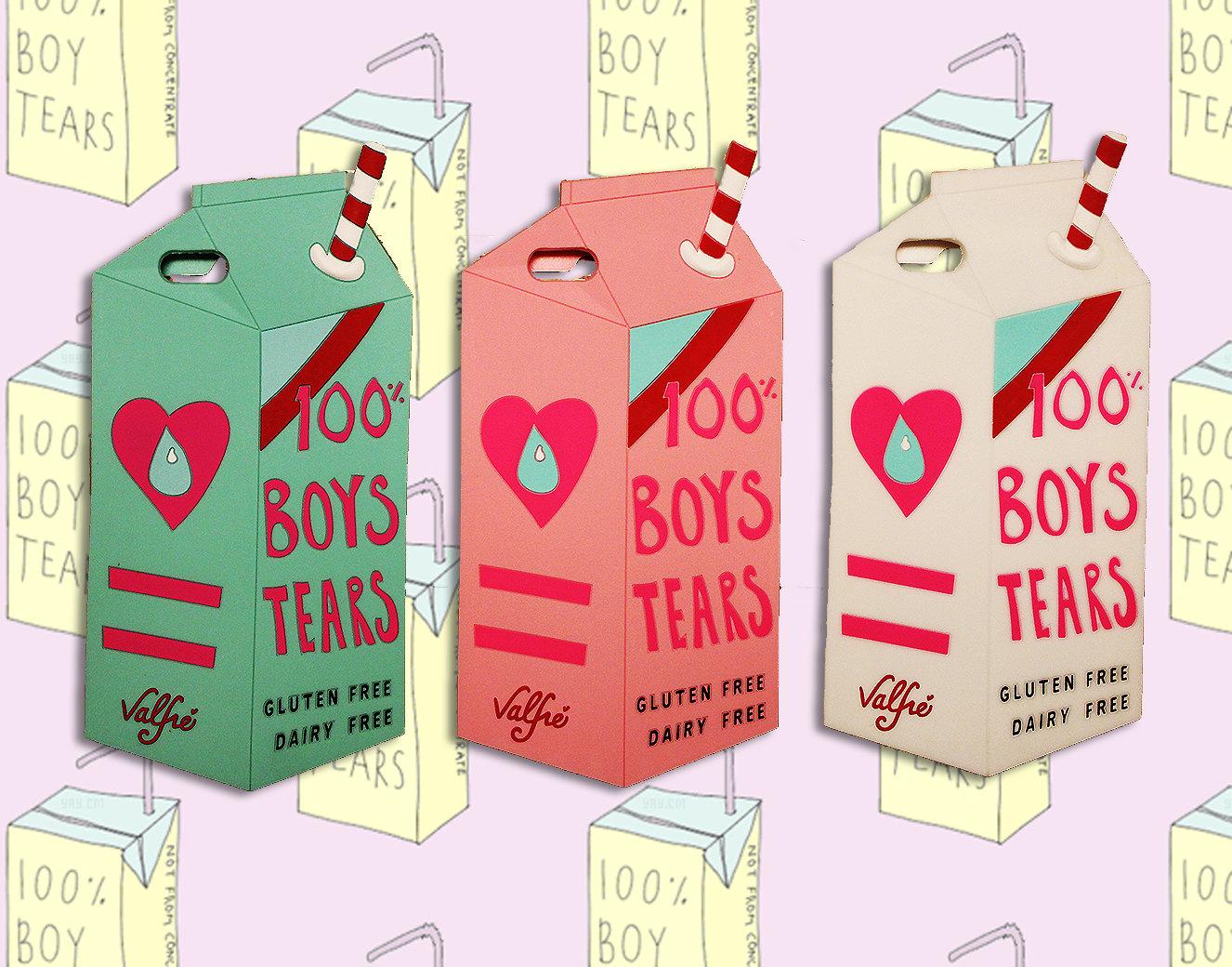 100% Boys Tears Milk Box / Carton 3D Cell Phone Case ~ iPhone 6 Plus