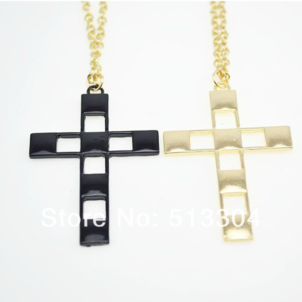 2013 wholesale fashion long cross necklace Free shipping(MOQ:15usd mixed designs)-in Pendant Necklaces from Jewelry on Aliexpress.com