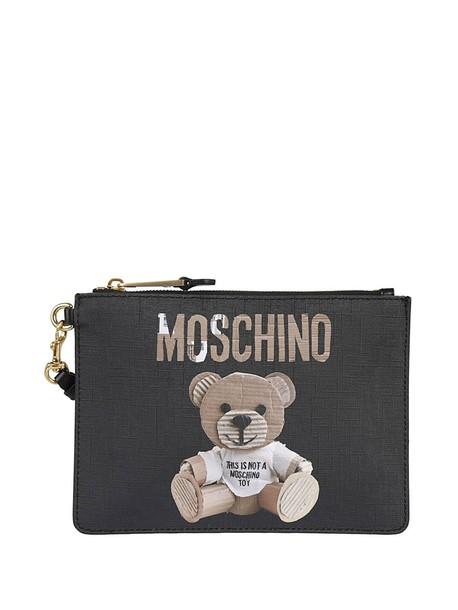 Moschino bear bag clutch pouch black