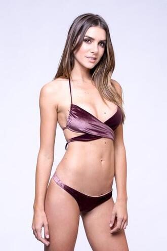 top bikini top dbrie swim halter top purple velvet bikiniluxe