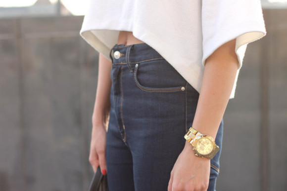 jeans blue jeans pants highwaisted shorts top crop