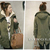Korean Women Military Fleece Zipper Hooded Parka Coat Long Jacket s M L XL Black | eBay