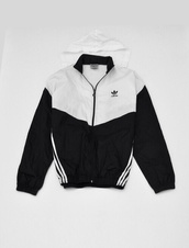 jacket,adidas,thug life,old school,windbreaker,sweater,aaliyah,hoodie,unisex,black,white,adidas black and white,adidas tracksuit,adidas jacket,adida,wind,black and white,stripes
