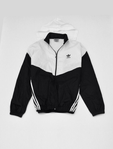 e67211a52 jacket adidas thug life old school windbreaker sweater aaliyah hoodie  unisex black white adidas black and