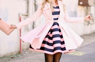feminine pink dress fashion style jacket cardigan