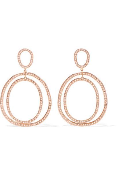 Ileana Makri rose gold rose earrings gold jewels