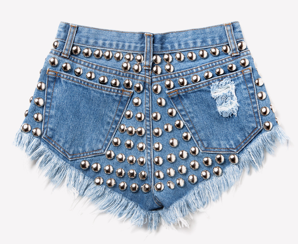 609 Vintage Studded Back Shorts | RUNWAYDREAMZ