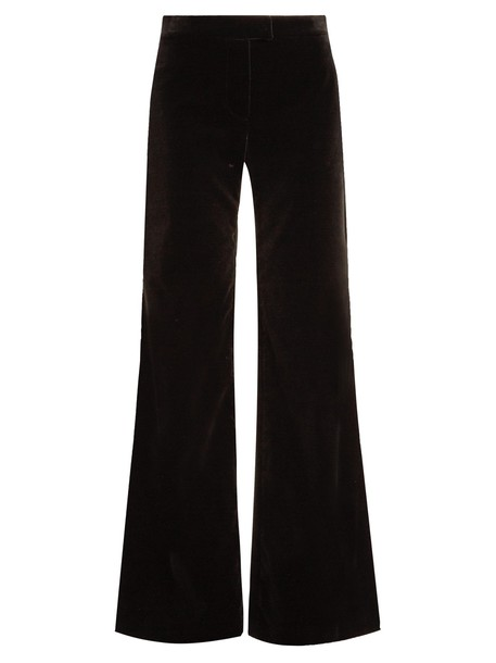 Goat cotton velvet black pants