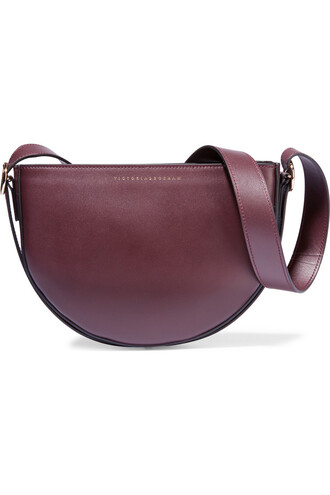 baby moon bag shoulder bag leather burgundy