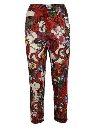 tiger tiger print print red pants