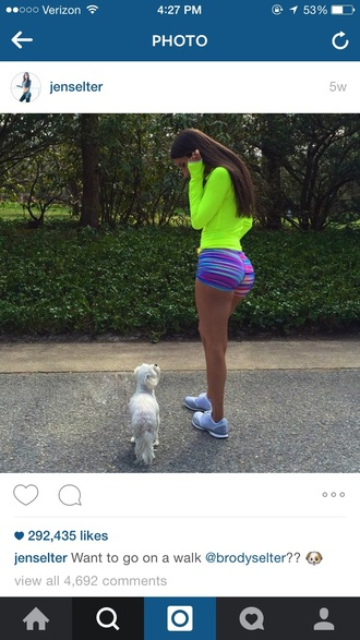 shorts spandex pattern gym clothes jen selter spandex shorts volleyball shorts