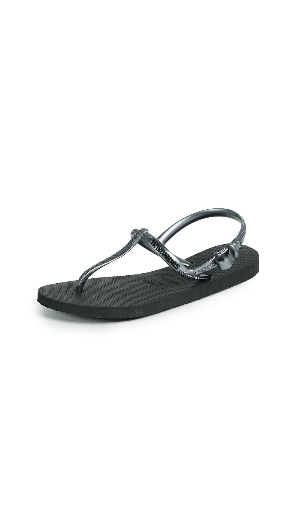 Havaianas Freedom T Strap Sandals in black