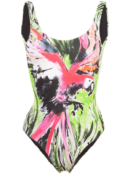 onia women spandex green swimwear